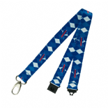 Buffalo Bills Lanyard, Team Colour Argyle Style Pattern